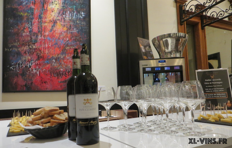 Accords vins et fromages au Château Pape-Clément