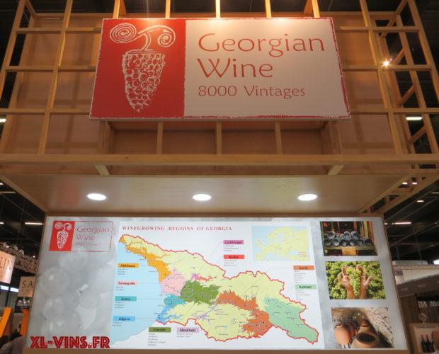 Carte des vins de Georgie