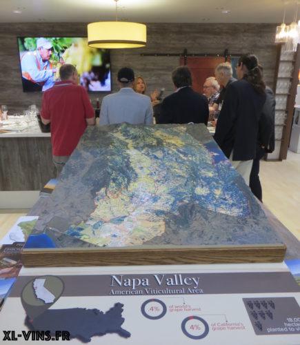 Carte de la Napa Valley