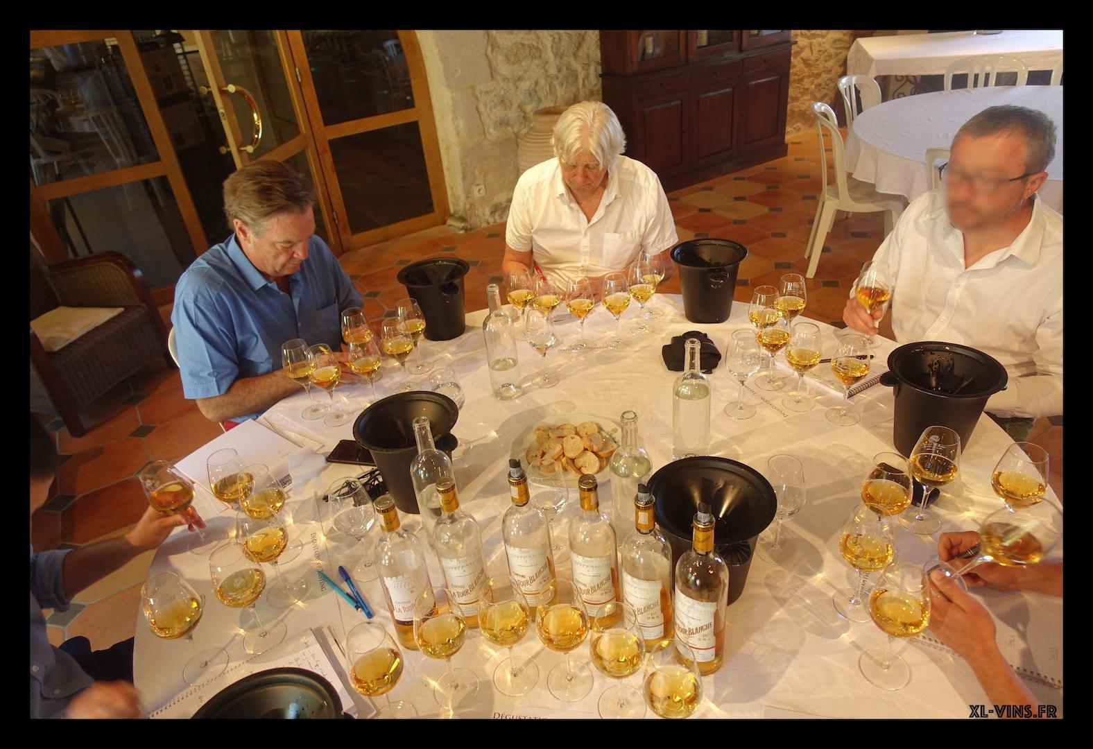 Verticale La Tour Blanche tasting