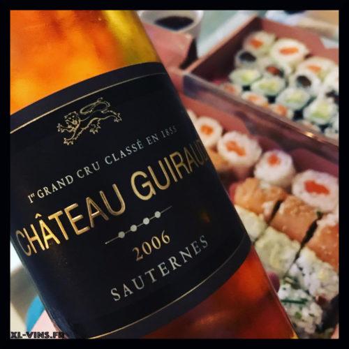 Château Guiraud 2006 sushis